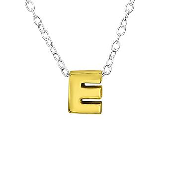 E - 925 Sterling Silver Plain Necklaces - W29936x