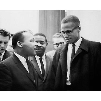 Martin Luther King Jr & Malcolm X Washington DC March 26 1964 Poster Print by McMahan Photo Archive (10 x 8)