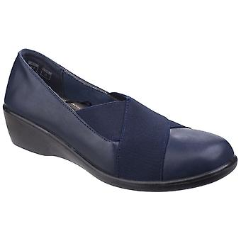 Fleet & Foster Womens/Ladies Limba Elasticated Wedge Shoes