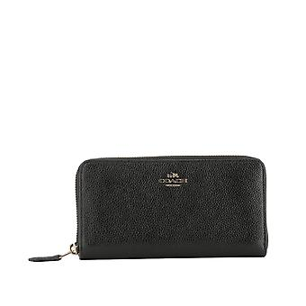 Coach women's 58059LIBLACK black leather wallets