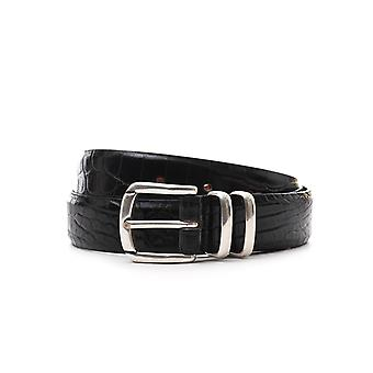 Eleventy men's 979CI0023CIN2000422 black leather belt