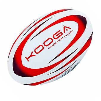 Kooga Durban Rugby Ball [White/Red]-Size 4