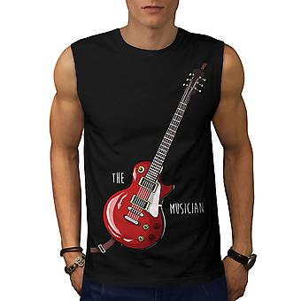 Musician Men BlackSleeveless T-shirt | Wellcoda