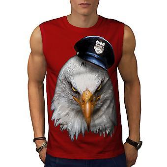 Eagle polisen Cop djur män RedSleeveless T-shirt | Wellcoda