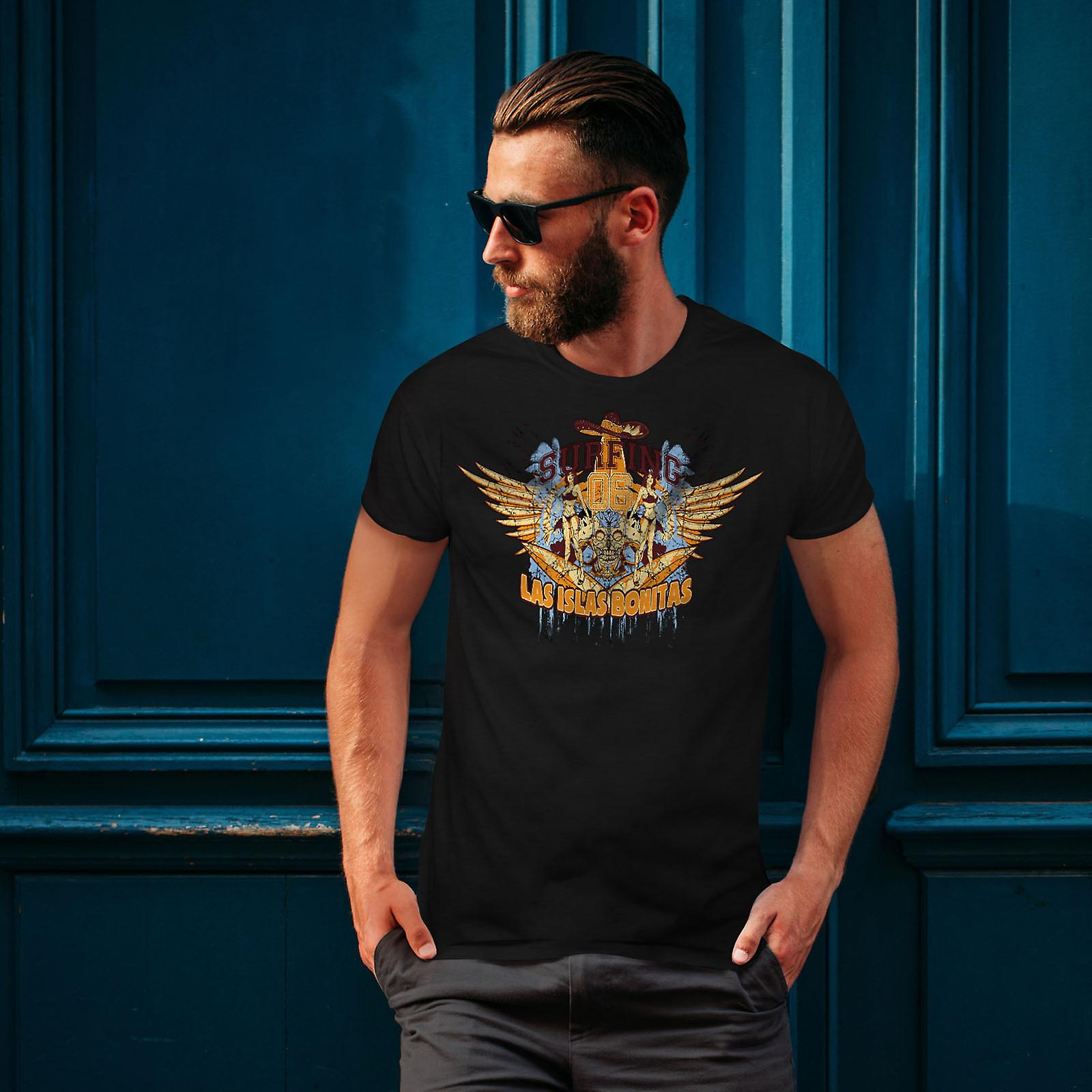 Las Islas Bonitas Men BlackT-shirt | Wellcoda