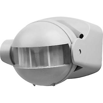 Surface-mount PIR motion detector Smartwares 10.017.09 180 ° Silver IP44
