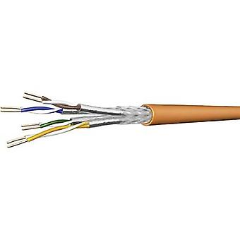 Network cable CAT 7 SF/UTP 4 x 2 x 0.25 mm² Orange