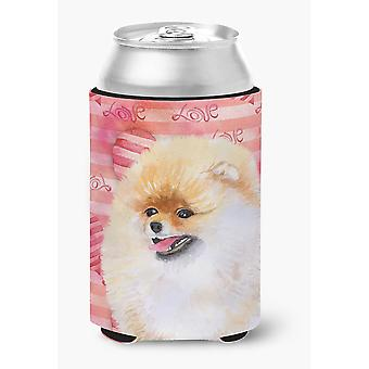 Carolines Treasures  BB9769CC Pomeranian Love Can or Bottle Hugger
