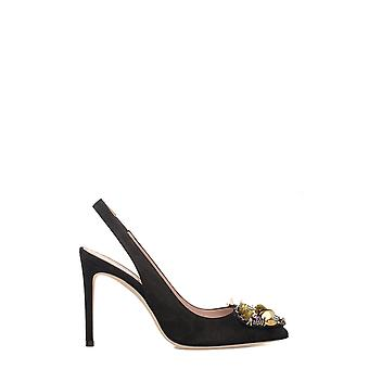 Alberto Gozzi BENEDETTA2115CAM ladies black leather pumps