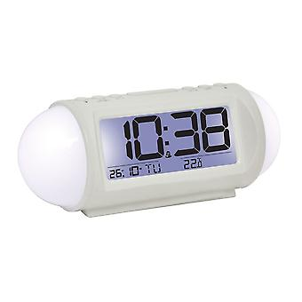 7cm White Digital Alarm Clock