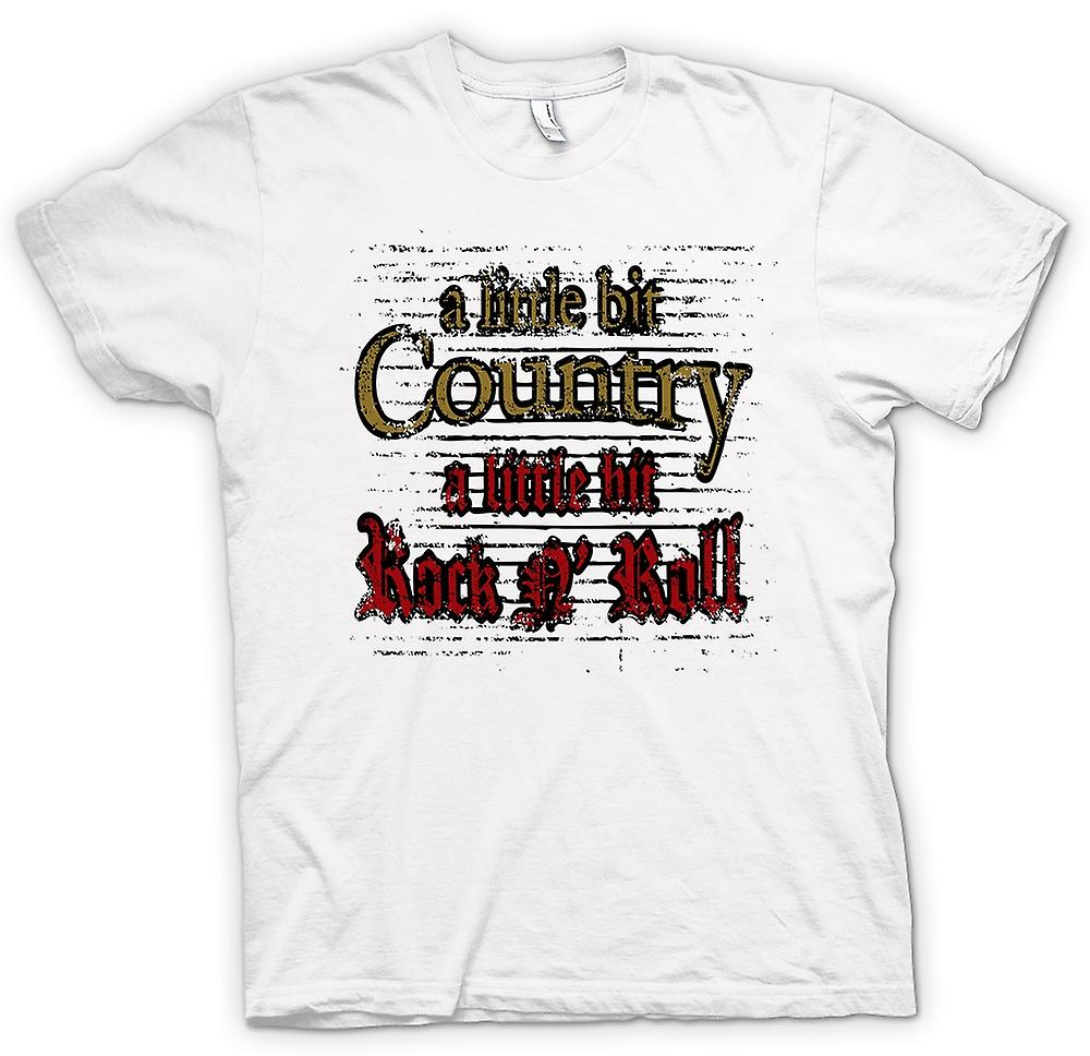 Hommes T-shirt - Little Bit Of Country Rock n Roll