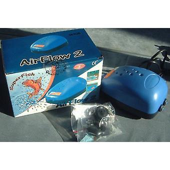 SUPERFISH Air Flow 2 sorties pompe à Air pour réservoir de poissons d'aquarium