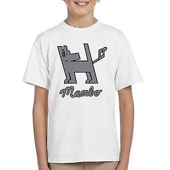 Mambo Dog Nut Grey Kid's T-Shirt