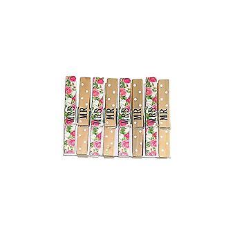 Groves Mr & Mrs Pegs 8 Pack**^