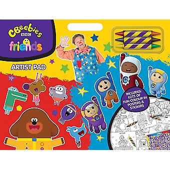 BBC Cbeebies Friends Childrens Artist Pad