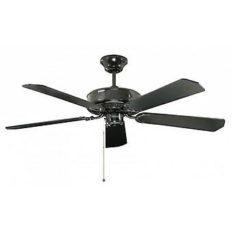Ceiling Fan Classic Black with pull cord 132cm / 52