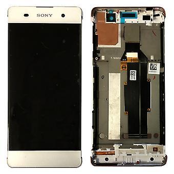 ソニーは、Xperia XA F3111 F3112 白スペアパーツのフレームと液晶完全な単位を表示します。