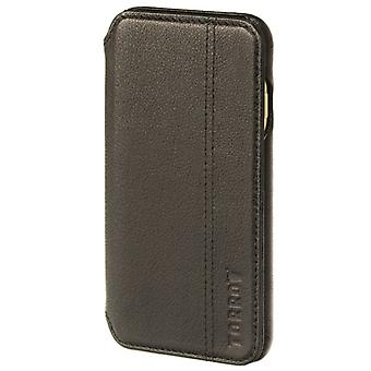 Iphone 8 / Iphone 7 All Black Napa Leather Book Style Case