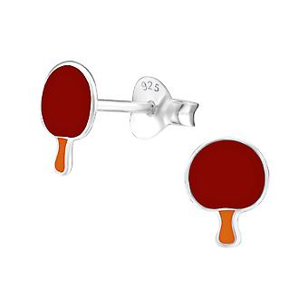 Ping Pong Paddle - Zinc + 316L Surgical Grade Stainless Steel Colourful Ear Studs - W24624X