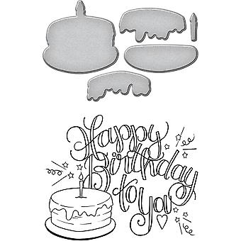 Spellbinders Stamp & Die Set By Tammy Tutterow-Happy Birthday Cake