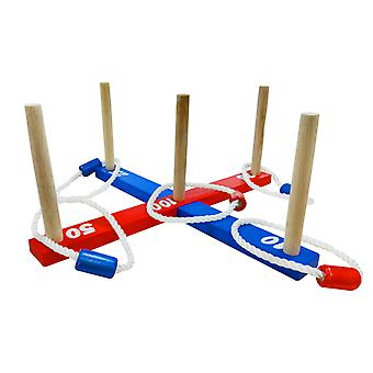 Yellowstone Wooden Ring Toss Garden Outdoor Game
