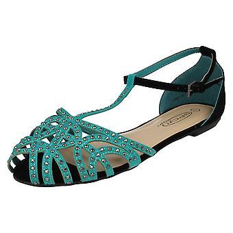 Дамы пятно на t-запирает шипованных закрыты носок туфли летние F0624