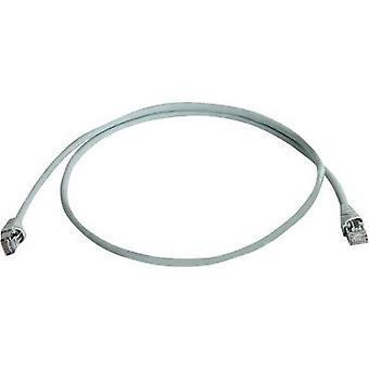 RJ45 Networks Cable CAT 6A S/FTP 20 m Grey Flame-retardant, Halogen-free Telegärtner