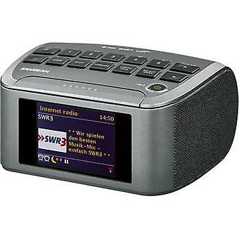 Internet WF Sangean RCR-11 tabela radia top AUX, DAB +, DLNA, Internet radiowy, FM, USB szary