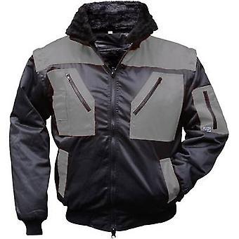 L + D Griffy 4206 4-in-1 Multi-Functions-Pilot Jacke mit Warnwirkung. Schwarz, grau XXXL