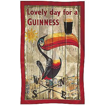 Guinness Toucan Weather Vane Cotton Tea Towel 700Mm X 450Mm