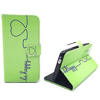 Mobile phone case pouch for mobile WIKO Rainbow jam be happy Green