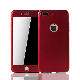Apple iPhone 7 plus cell phone case protective case cover tank protection glass Red