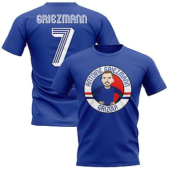 Antoine Griezmann France Illustration T-Shirt (Blue)