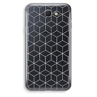 Samsung Galaxy J7 Prime (2017) caso transparente (Soft) - cubos preto e branco