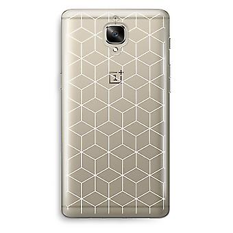 OnePlus 3T Transparent Case (Soft) - Cubes black and white