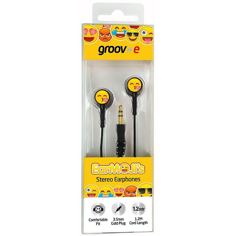 Groov-e GVEMJ24 EarMOJI's Stereo Headphone Emoji - Kissing Face