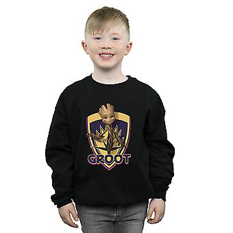 Marvel Boys Guardians Of The Galaxy Groot Badge Sweatshirt