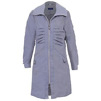 Женская длинный рукав душ доказательство легкий Женская куртка Повседневная плащи
