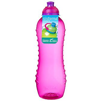 Sistema Twist 'n' Sip Drinks Bottle, 620ml, Pink
