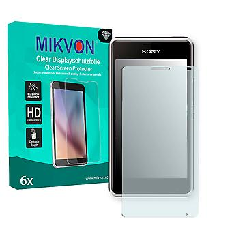 Sony Xperia E1 Screen Protector - Mikvon Clear (Retail Package with accessories)