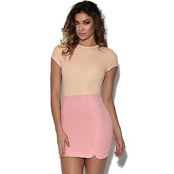 RARE Peach et mini robe rose
