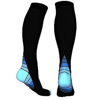 Knee-high compression socks for running & Sport-Blue