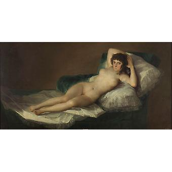 The Naked Maja,Francisco Goya,80x40cm