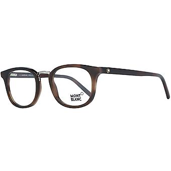 Montblanc mens metal & plastic glasses Brown