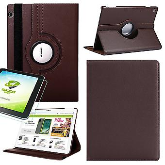 For Apple iPad Pro 11.0 inch 2018 360 degree case cover pouch leather case new Braun Kunst + 0.4 mm hard glass