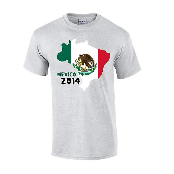 Mexico 2014 Country Flag T-shirt (grey)