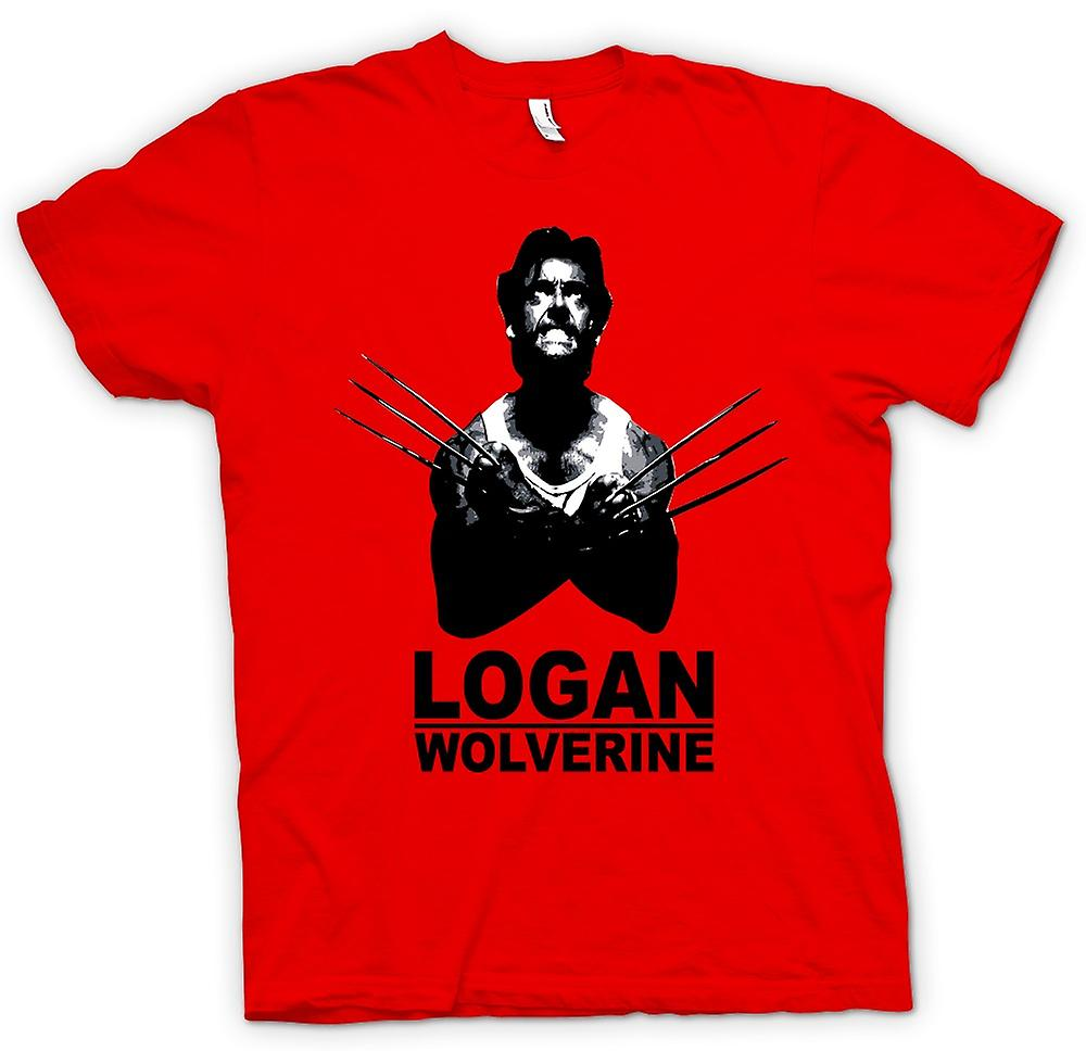 Heren T-shirt - Logan Wolverine - X - Men - Comic