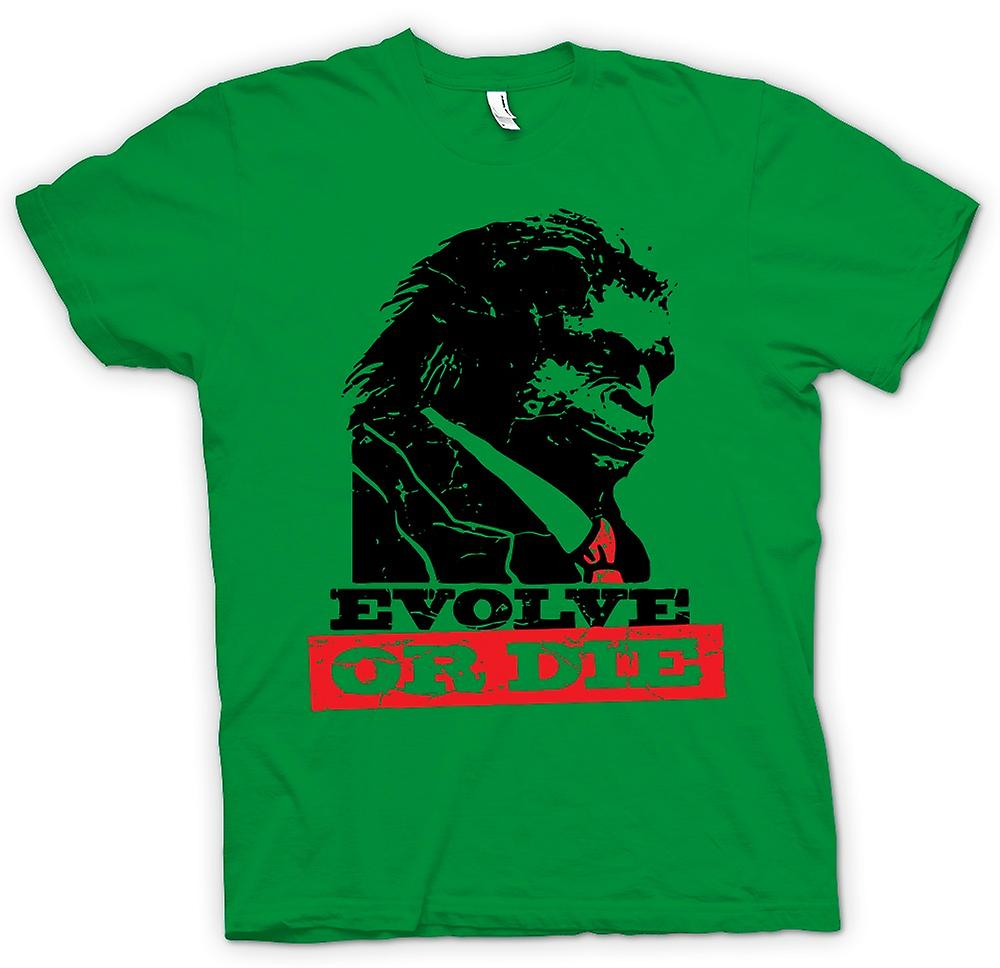 T-shirt des hommes - Evolve Or Die Planet Of Apes - Retro drôle