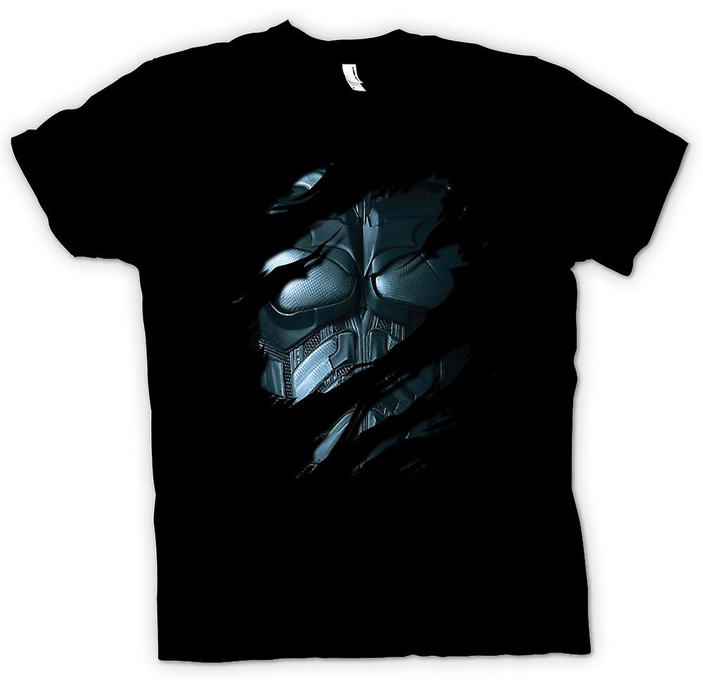 Mens T-shirt - costume de Batman - Superhero déchiré Design