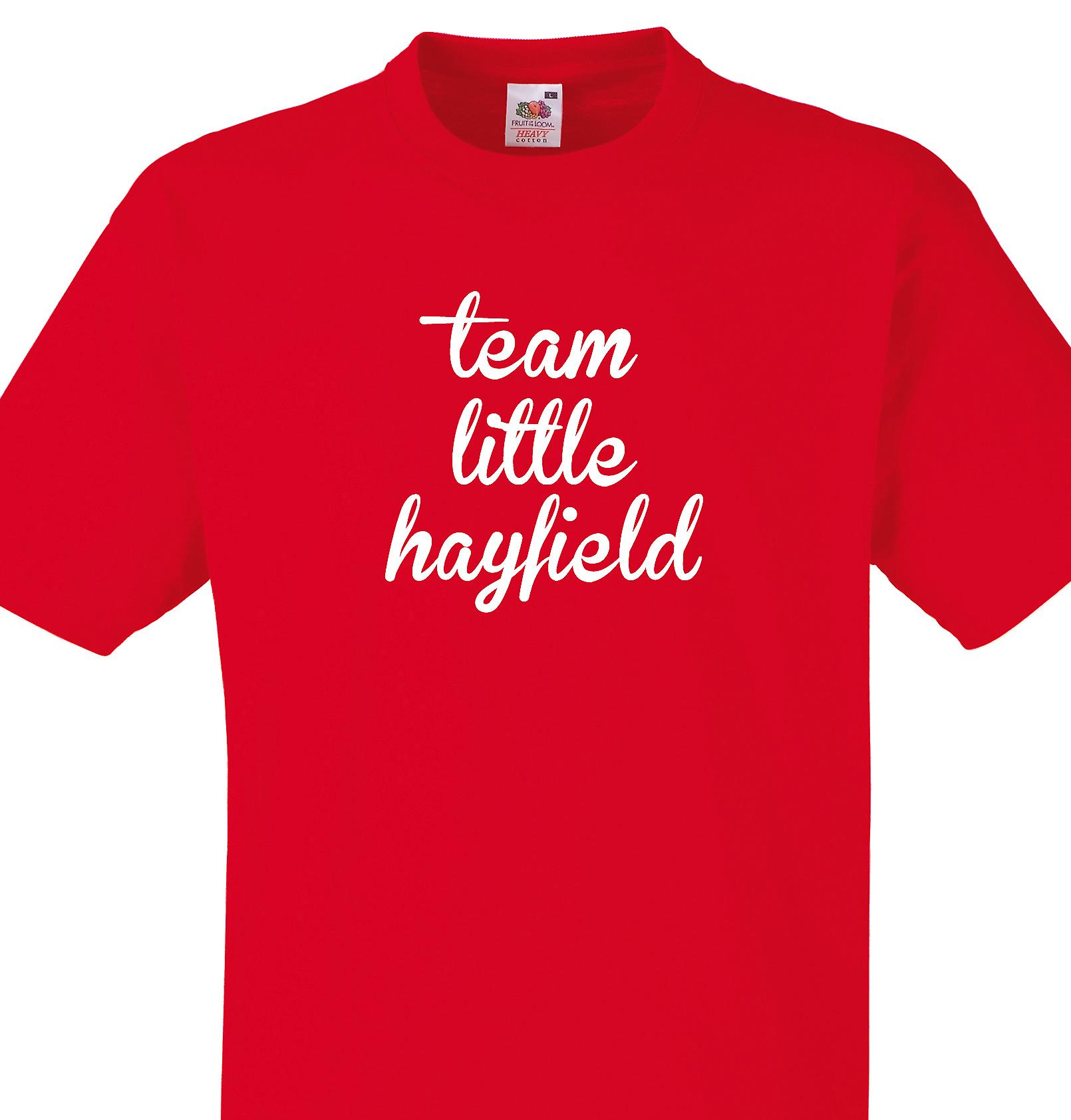 Team Little hayfield Red T shirt